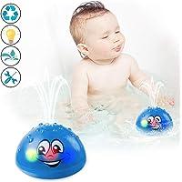 Bath Toys, Water Spray Toys for Kids Baby Bath Toys for Toddlers LED Light Up Bathtub Toys for Toddlers Sprinkler Bath Toy Baby Shines Bath Toy Baby Toys-Blue