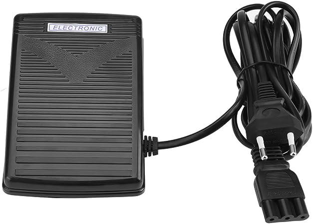 Pedal de Control de Pie Pedal Eléctrico con Cable para Máquina de Coser Domástico 200-240V Enchufe de la UE(EU plug ...