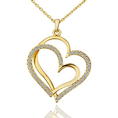 canada ip en plated walmart rose mom sterling paj tone pendant silver two heart gold double
