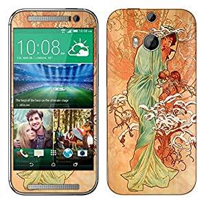 Skin Decal for HTC One M8 - Alfons Mucha Winter