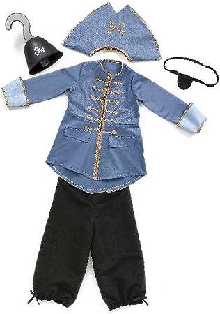 Grandes imitaciones - disfraz de Capitán Garfio para niño (tamaño ...