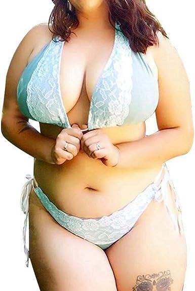 Samgu Lenceria Sexy Mujer Encaje Ropa Interior Bikini Conjunto Tallas Grandes Azul Amazon Es Ropa Y Accesorios