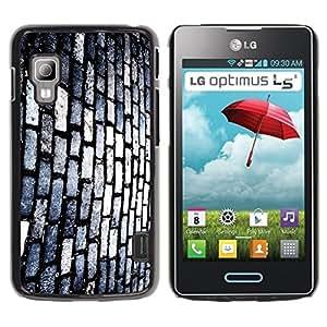 Be Good Phone Accessory // Dura Cáscara cubierta Protectora Caso Carcasa Funda de Protección para LG Optimus L5 II Dual E455 E460 // Brick Wall Footpath Street Modern Art Random