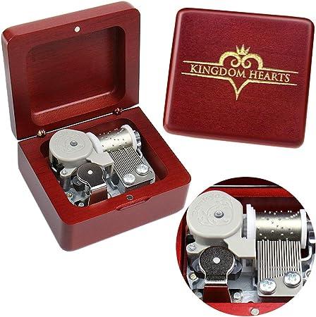 Kingdom Hearts Caja de música con Mecanismo de Madera Tallada Vintage, Caja Musical con Cuerda, cumpleaños, día de San Valentín, niños, Amigos: Amazon.es: Hogar