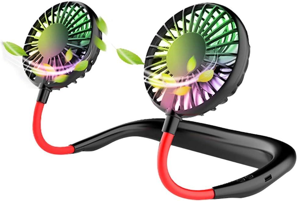 Maxesla Ventilador personal portátil-Mini ventilador de cuello USB ...