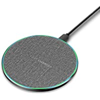 15W Wireless Charging Pad Aluminum Alloy Qi Fast Induction Charger Compatible with iPhone 12/12 Pro/11 Pro/XR/XS/X/8…