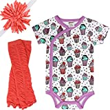 juDanzy 3-Piece Baby Shower Gift Box Set For Girls (3-6 Months, Sweet Shop)