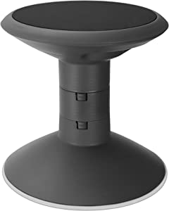 """Storex Wiggle Stool, Adjustable Height 12"""", 14"""", 16"""", or 18"""" for Active Seating in The Classroom, Black (00300U01C)"""