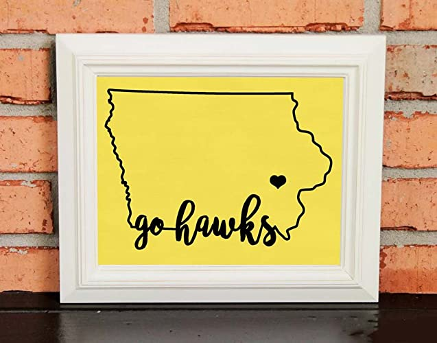 Amazon.com: GO HAWKS! College Pride Wall Art - Iowa Artwork - Iowa ...