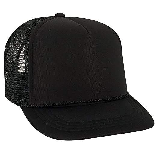 ce1685a6 Product of Ottocap Polyester Foam Front Youth Five Panel High Crown Trucker  Hat -Black [