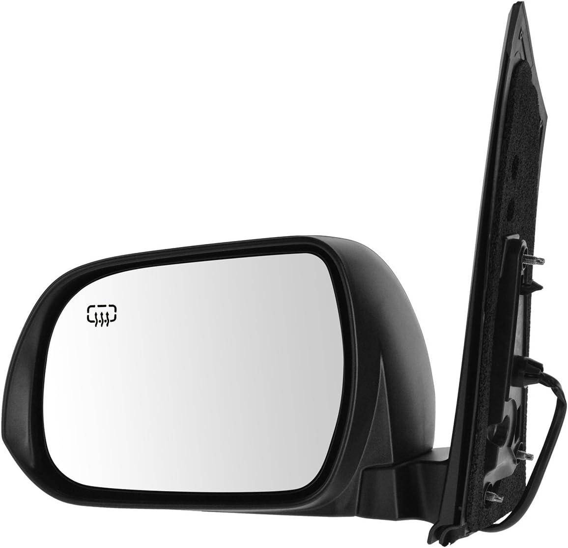 Side View Mirror Power Textured Black Driver Left LH for Toyota Sienna