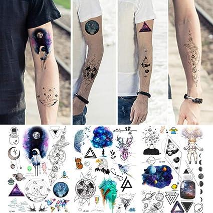 Galaxie Blue Planeta Astronauta tatuaje temporario adhesivo ...