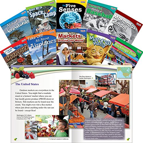 Teacher Created Materials - TIME for Kids Informational Text Readers Set 1 - 10 Book Set - Grade 3 - Guided Reading Level M - Q
