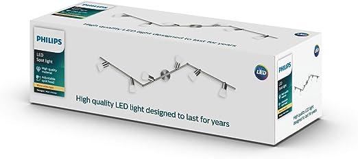 Signify Philips Essentials Decagon Barre spot en nickel avec forme sp/éciale 6 x 4,3 W 230 V LED incluses