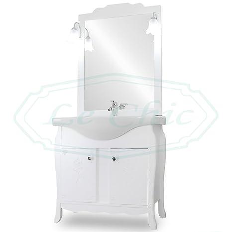 Arredo bagno 85 cm shabby chic contemporaneo con decori mobile bagno ...