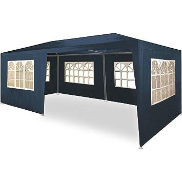 Carpa pabellón 3x6 con laterales. Desmontable. Económica. Color azul: Amazon.es: Jardín