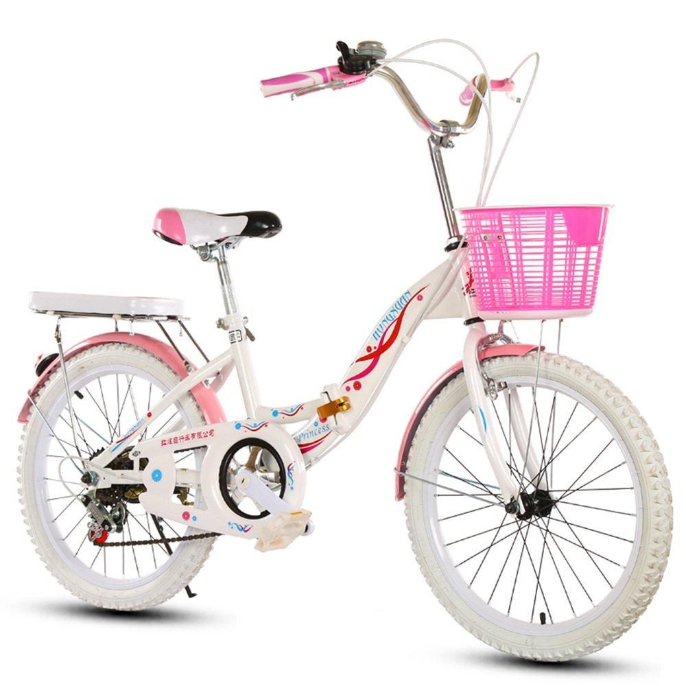 美しい 家子供用自転車、6-8-10-14赤ちゃんのベビーカー20/22インチの女の子可変速度/折り畳み式小学校の女性の自転車 (色 : White tire, サイズ さいず : 22 inches) B07D1P4JGL 22 inches|White tire White tire 22 inches
