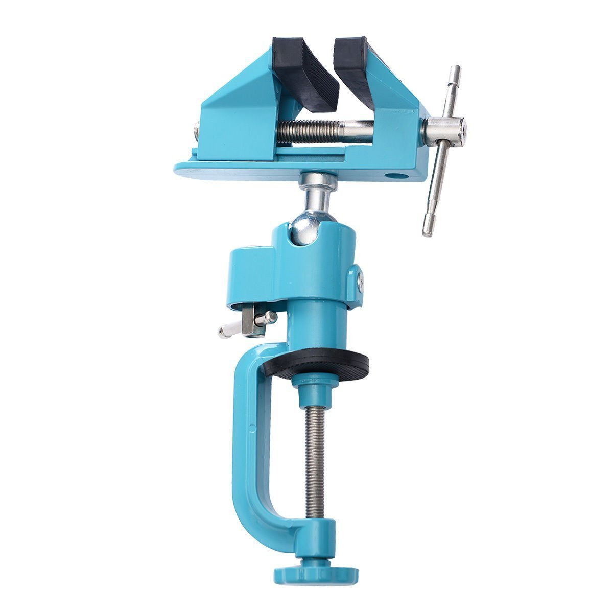 Goplus Bench Vise Swivel 3'' Tabletop Clamp Vice Tilts Rotate 360° Universal Work by Goplus (Image #2)