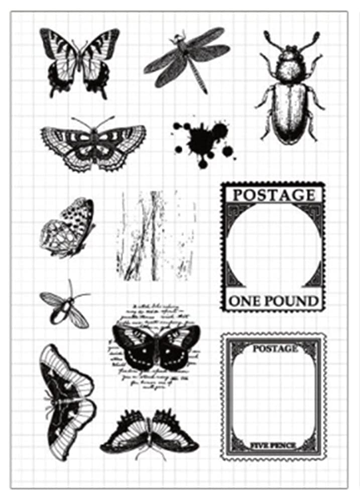 Buyby Scrapbook Stamps Clear Rubber Stamp 16x11cm (Insect)