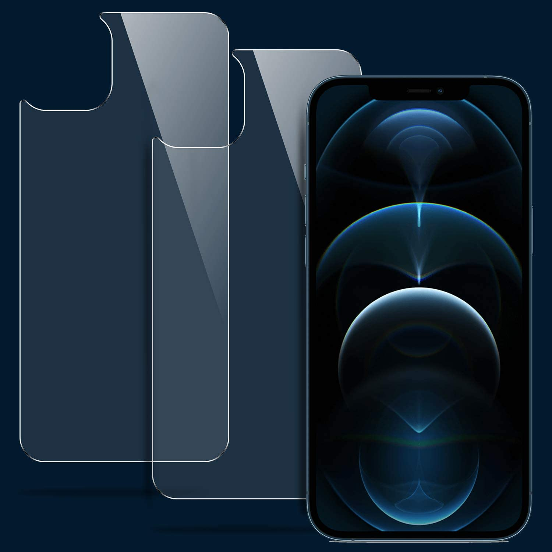 2 Vidrios Templados 9h Trasero Para iPhone 12 Pro