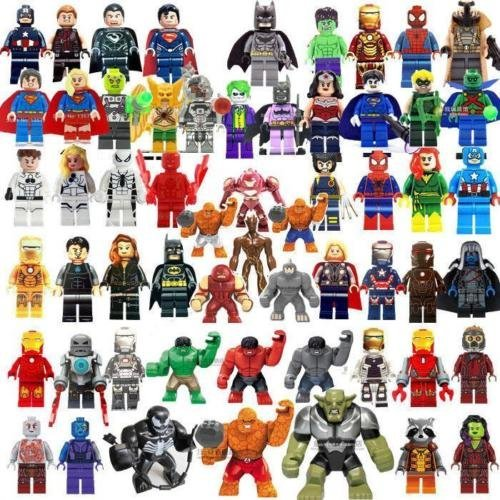 58 pcs MiniFigures Super Heroes Blocks (Hulk Morphsuit)