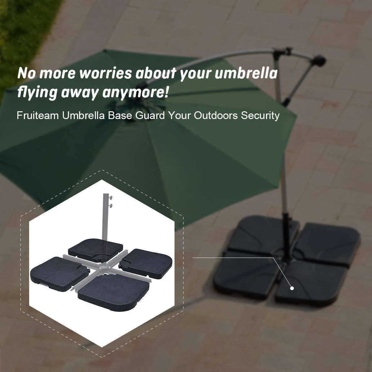 FRUITEAM 4-Piece Offset Umbrella-Base Heavy-Duty Weight Base for Cantilever Offset Umbrella