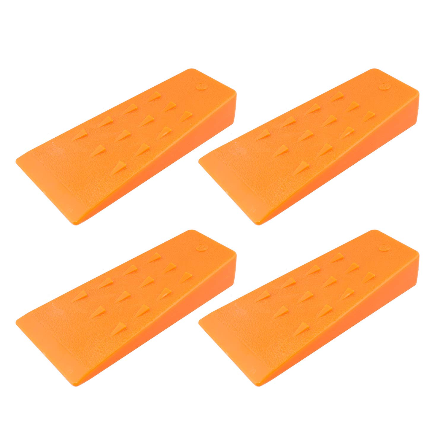 Felled Spiked Tree Felling Wedges for Tree Cutting - 5.5'' Inch Orange Plastic Felling Wedge, Logging Tools - 4 Pack by Felled