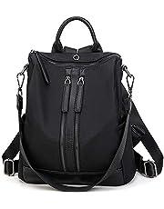 FLORICA Women Backpack Purse Waterproof Nylon Anti-theft Shoulder Bag Headphone Plug Travel School Shoulder Bag Fashion Daypack