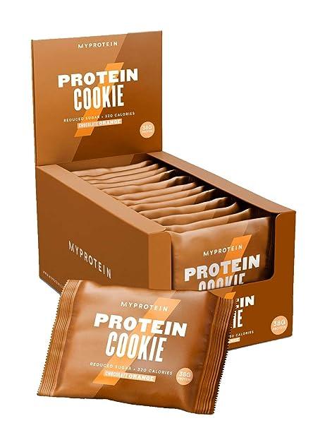 MyProtein Cookie Galletas de Proteínas, Sabor Chocolate con Naranja - 12 Unidades
