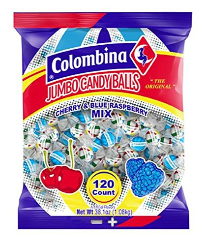 Candy Hard Jumbo (Jumbo Candy Balls Beach Balls Cherry & Blue Raspberry Mix 120ct)