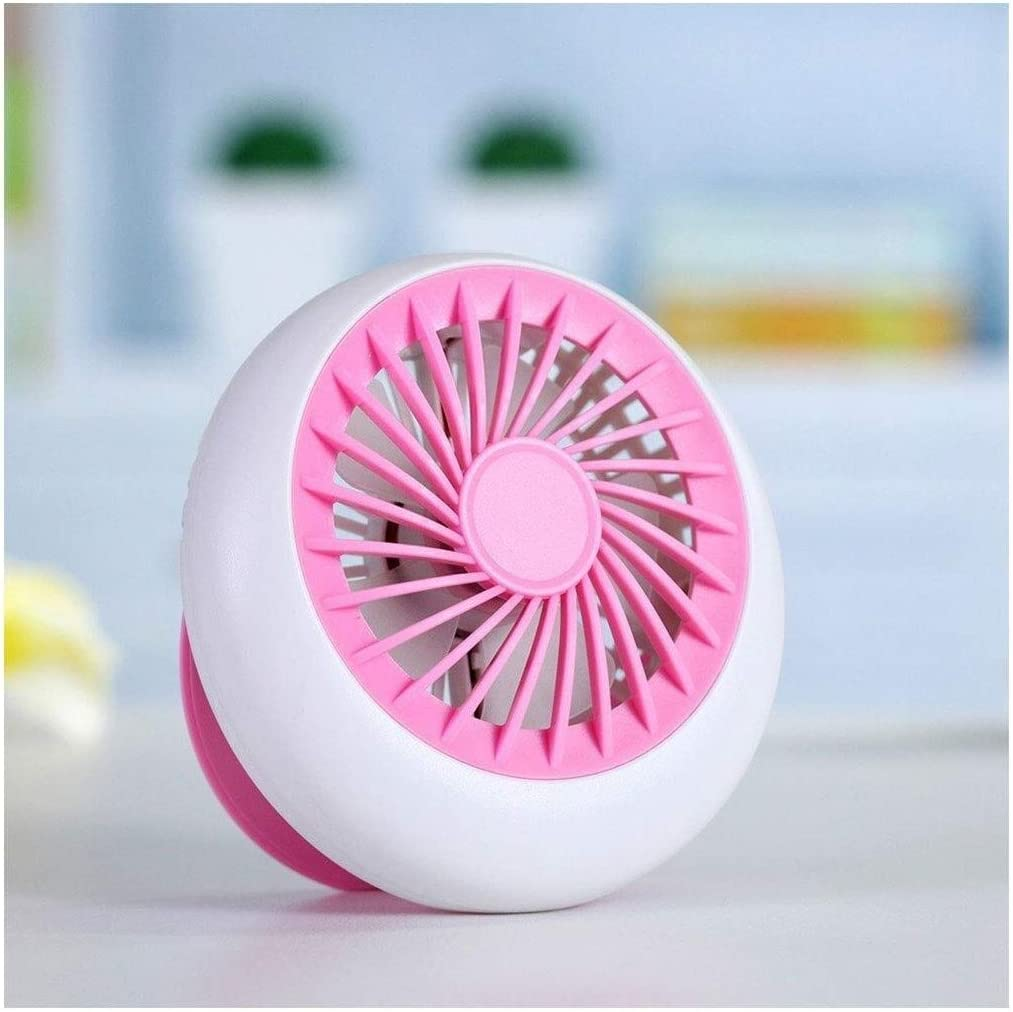 Color : Pink, Size : 1273cm USB Mini Creative Recgargeable Mute Desktop Small Computer Office Bedroom Electric Bring Cool GAOFENG Mini Fan