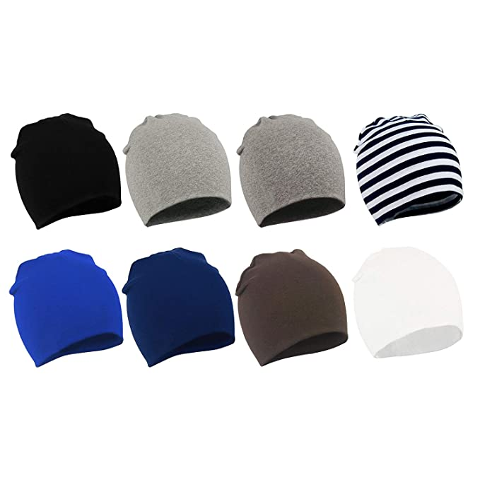 63e93edac Amazon.com  Zando Baby Kids Cotton Knit Beanie Hat for Baby Boys ...
