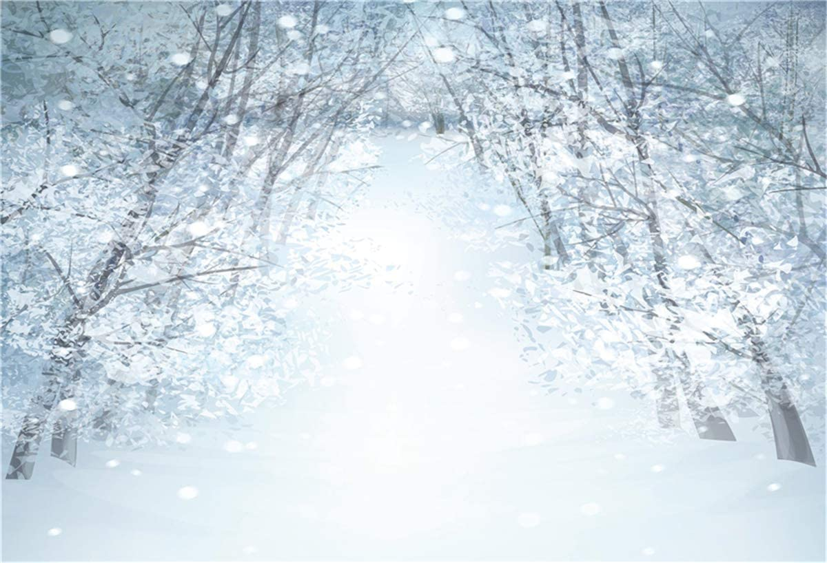 10x6.5ft 300x200cm Snow Branches Winter Backdrop for Photography Princess Microfiber Backdrop Photo Booth Prop Background