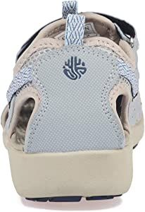 bbdfafaa7f569 Women Outdoor Hiking Sandals Summer Adjustable Closed Toe Beach Sport  Walking Shoes Blue Purple Beige