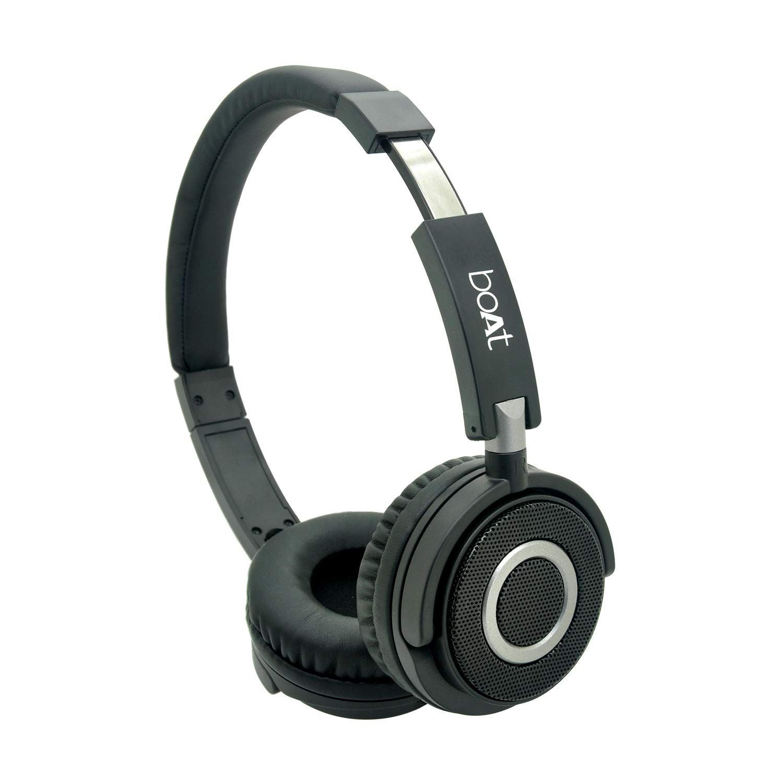 boAt 900 Wireless V2 On-Ear Headphones (Charcoal Black)