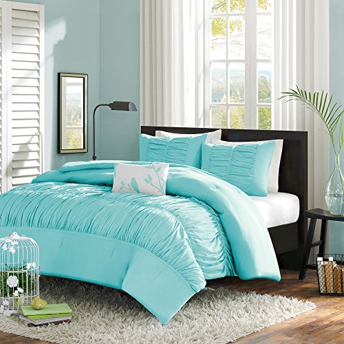 bedding comforter blue shipping cotton stuff other free sl light stripe great set queen