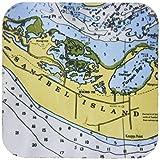 3dRose cst_24593_2 Nautical Chart III Soft Coasters, Set of 8
