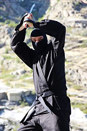 Master Black Ninja Uniform Authentic Gi Size 7 *BRAND NEW SEALED*
