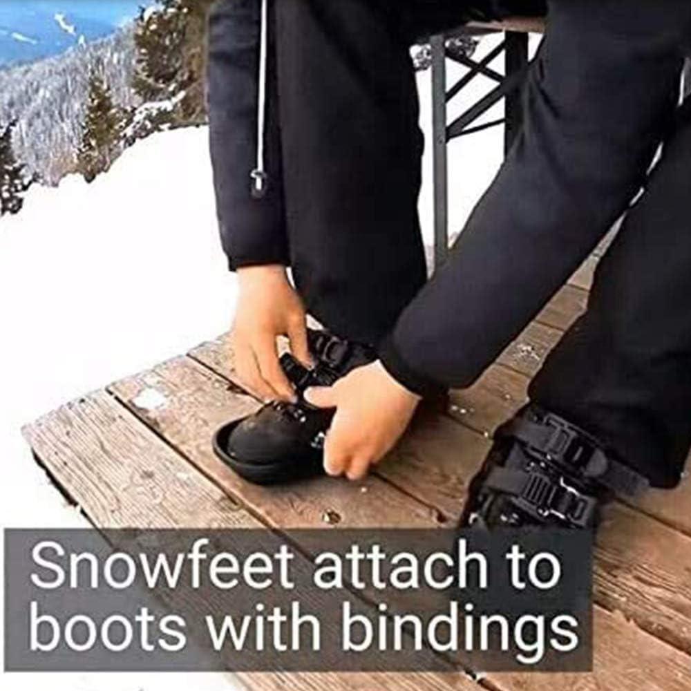 Mini Ski Skates for Snow The Short Skiboard Snowblades,Snowfeet Mini Ski Skates Adjustable Portable Mini ski Boots Short Skiboards with Storage bag Kit