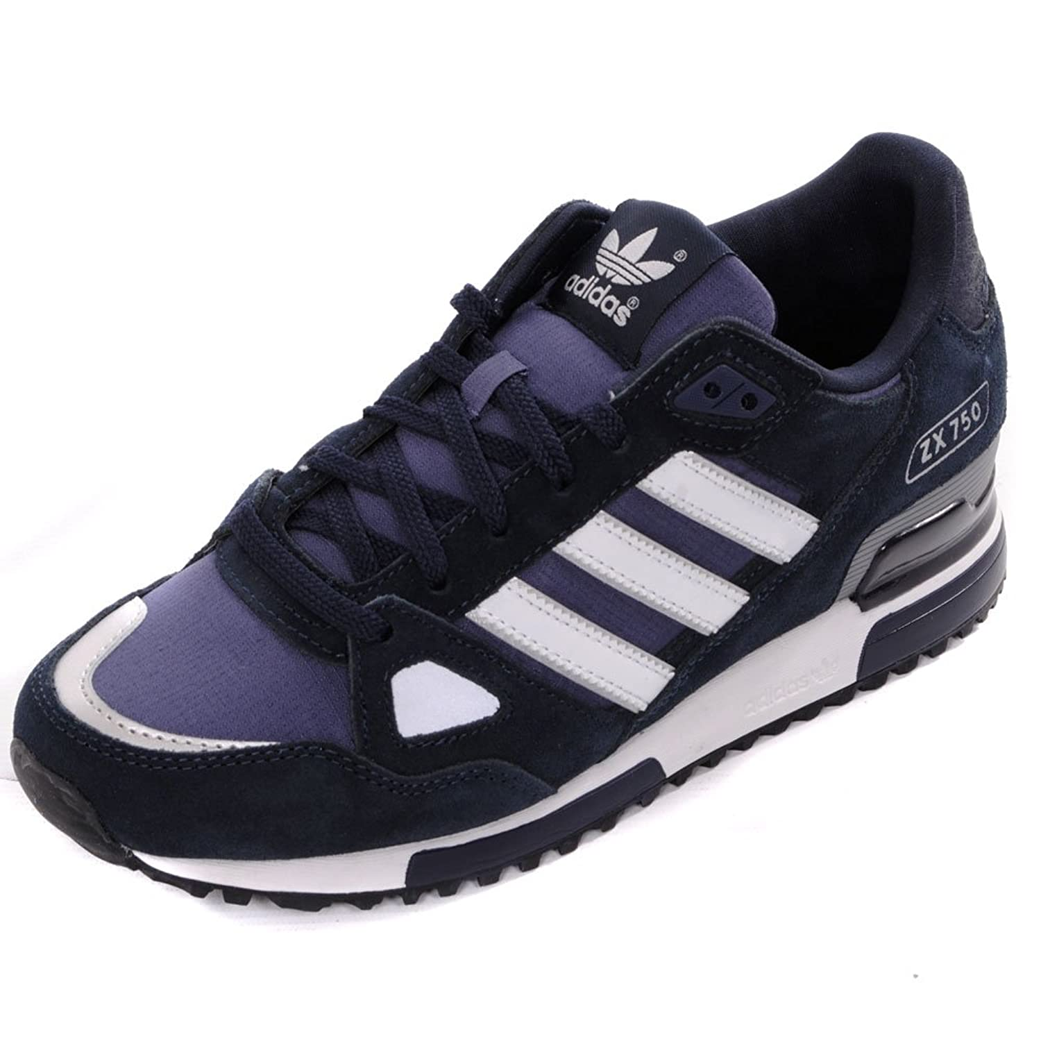 premium selection f92d0 650f1 adidas Originals ZX 750 Trainers - Navy White