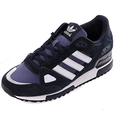 lowest price aa282 e2f34 Adidas Originals ZX 750 Trainers - NavyWhite UK7
