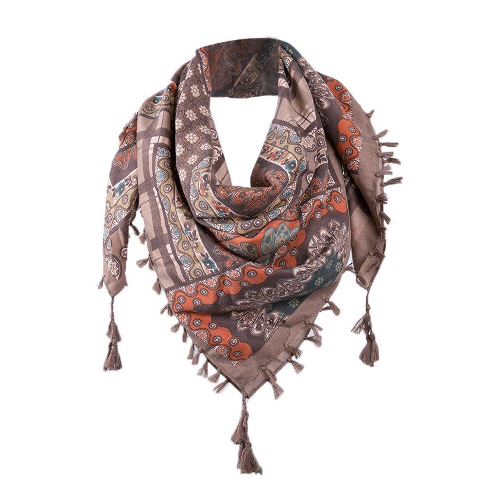 c1a4616de85 Bonjouree Echarpes Coton Femme avec Pompons Chaude d hiver (Gris)   Amazon.fr  Vêtements et accessoires