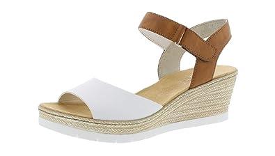 chaussures Femme Sandales Rieker Compensées confortable D'été 61953 TJuF3lK1c