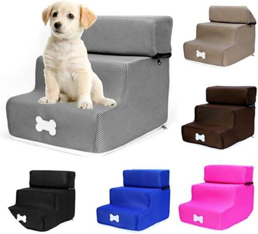 cdzhouji Mascota Peldaños Plegable Lavable Desmontable de Tres Pisos de Escalera de rampa Mascota para los Perros Gatos: Amazon.es: Hogar