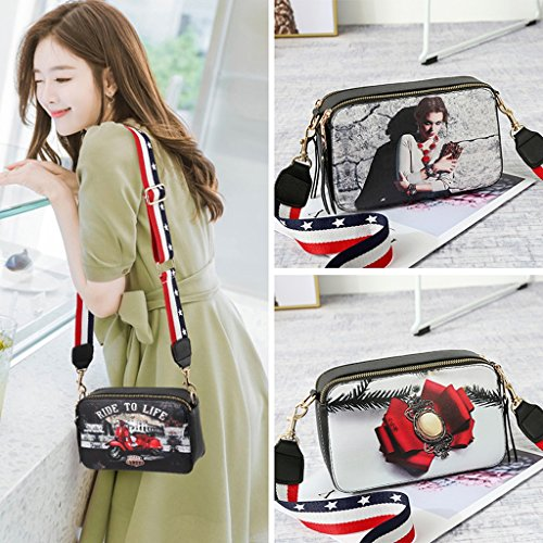 Summer Bag Beauty Glamorous Casual Shoulder Mini Student wtfvTxq