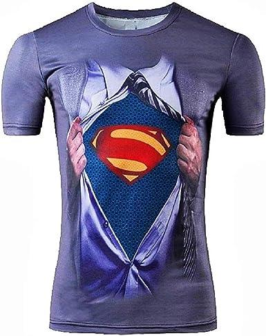 Camiseta Deportiva de Hombre de Manga Corta Camiseta Superman Talla XL excelente Idea de Regalo Superman: Amazon.es: Ropa y accesorios