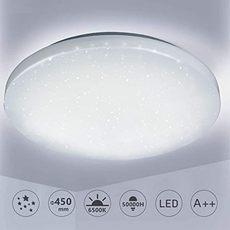 LED Decken Lampe Flur Küchen Wohn Zimmer Bad IP 44 Sternen Himmel Leuchte 35 CM