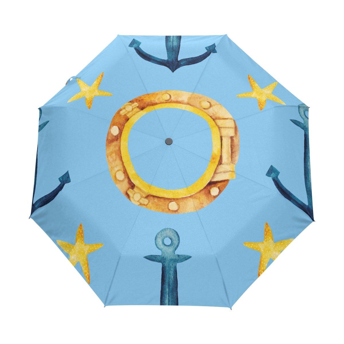 Senya Saobao防風と防雨トラベル傘with自動開いて閉じFoldingナビゲーションアイコンポータブル折りたたみ式太陽雨傘 B07FDPTZXN