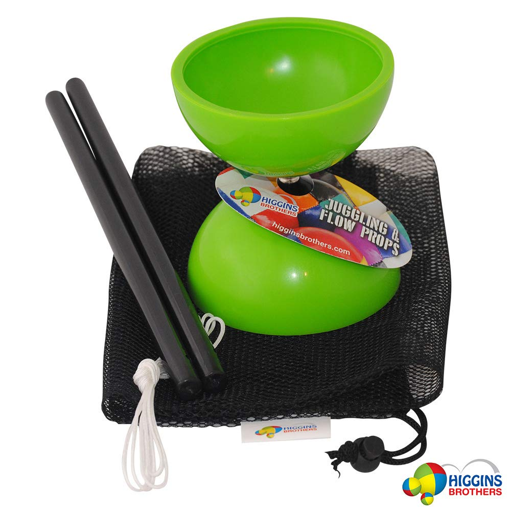 Higgins Brothers Tropic Diabolo Set with Handsticks and Mesh Carry Bag