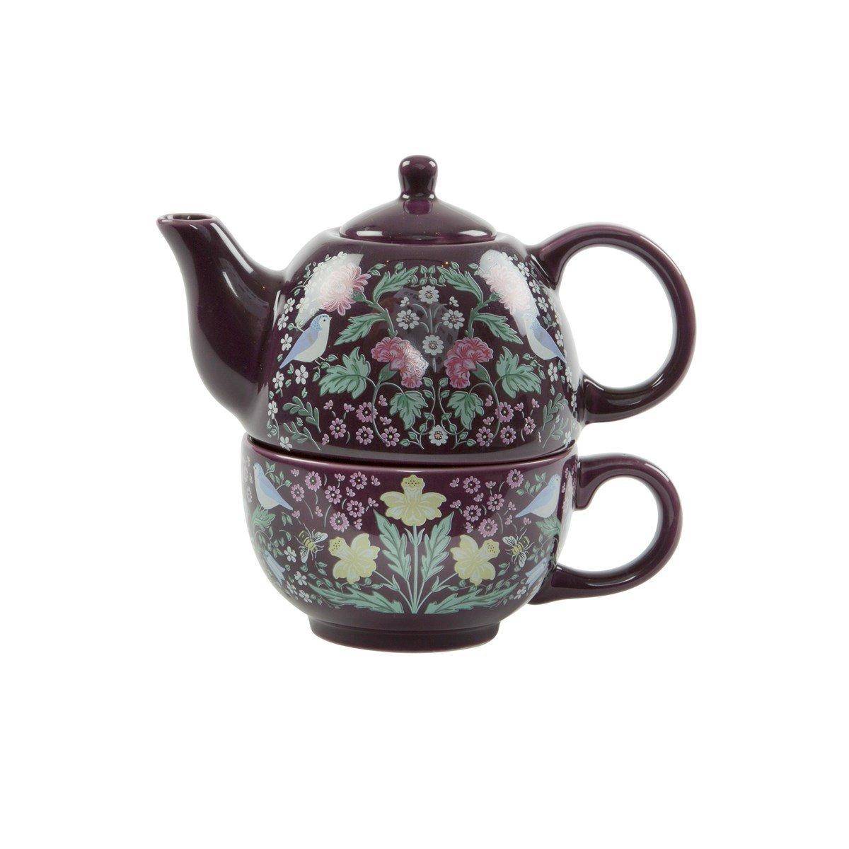 Sass & Belle Midnight Garden Tea for one Tea set William Morris Arts & Crafts style